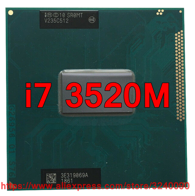 الأصلي lntel النواة i7 3520 M SR0MT وحدة المعالجة المركزية (4 M مخبأ/2.90 GHz/ثنائي النواة) i7-3520M محمول المعالج شحن مجاني