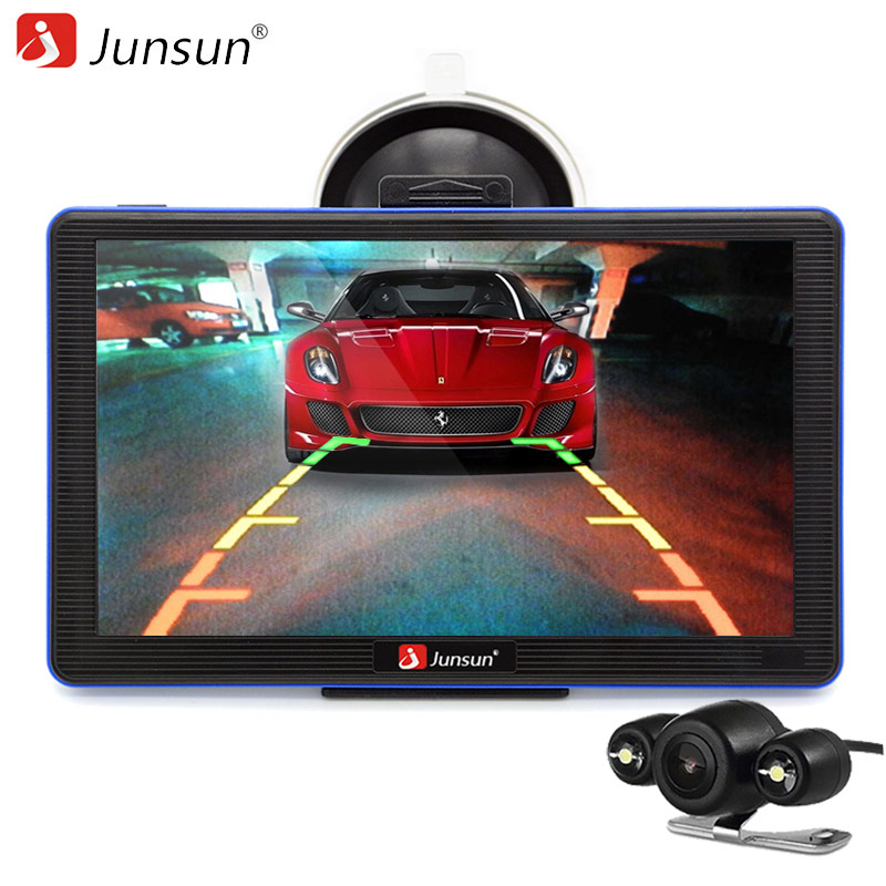 Junsun 7 inch Car GPS Navigation Bluetooth AVIN with Rear view Camera MP3 MP4 Truck gps navigator Detailed Maps Free Updates hd 7 inch car gps navigation with mtk 800mhz windows ce 6 0 bluetooth av in 128mb ddr2 4gb navigator with free shipping