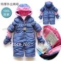 Frete grátis varejo novo 2014 inverno macacão bebê roupas geral menina macacão de algodão crianças thicke quente macacão