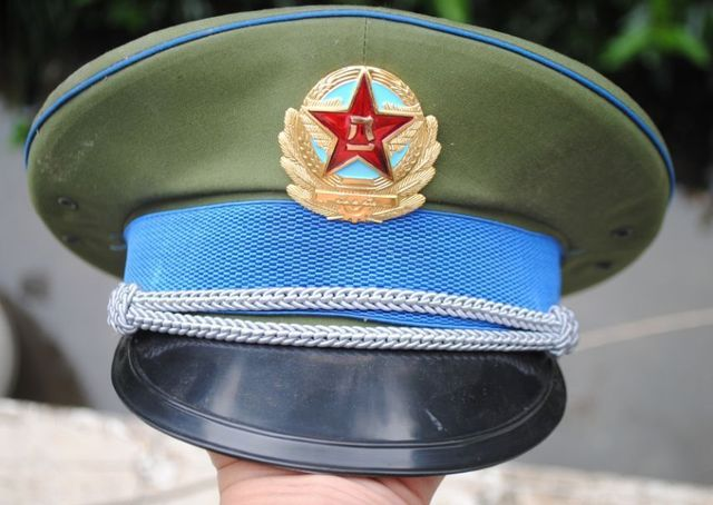 PLA AIR FORCE M87 Officer VISOR CAP CHINA USSR military uniform russian  beret f6719b765dea