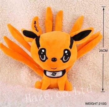 цена на Anime Kyuubi Kurama Nine Tails Stuffed Animal Soft Plush Toy Doll 25cm
