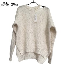 Mix Wind Winter Womens Sweaters Pullover 2017 Hollow Out Soft Femme Warm Knitting pullover Ladies Sweater