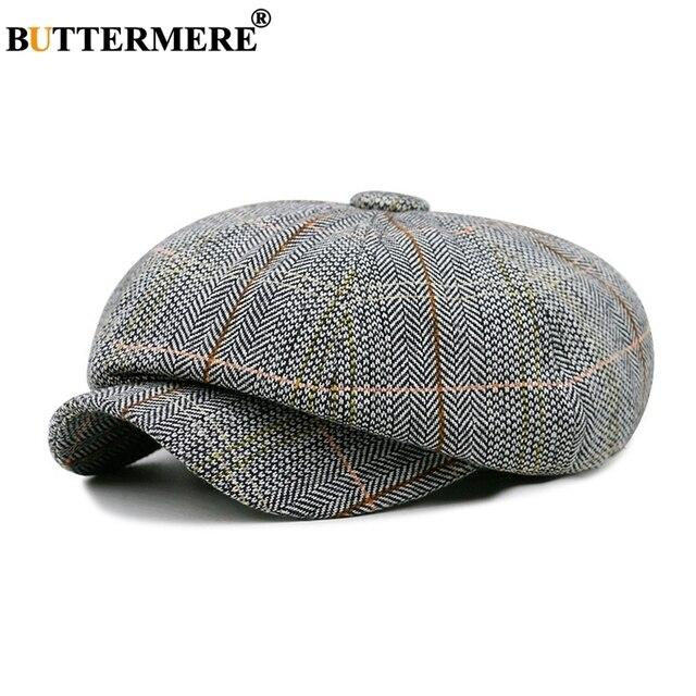 Buttermere Herringbone Men Newsboy Caps Women British Style Spring  Octagonal Hat Vintage Adjustable Checkered Hats And Caps ef415e8620c4