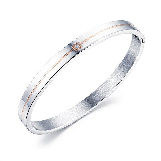 Купить браслет из титановой стали простые циркониевые браслеты подарки