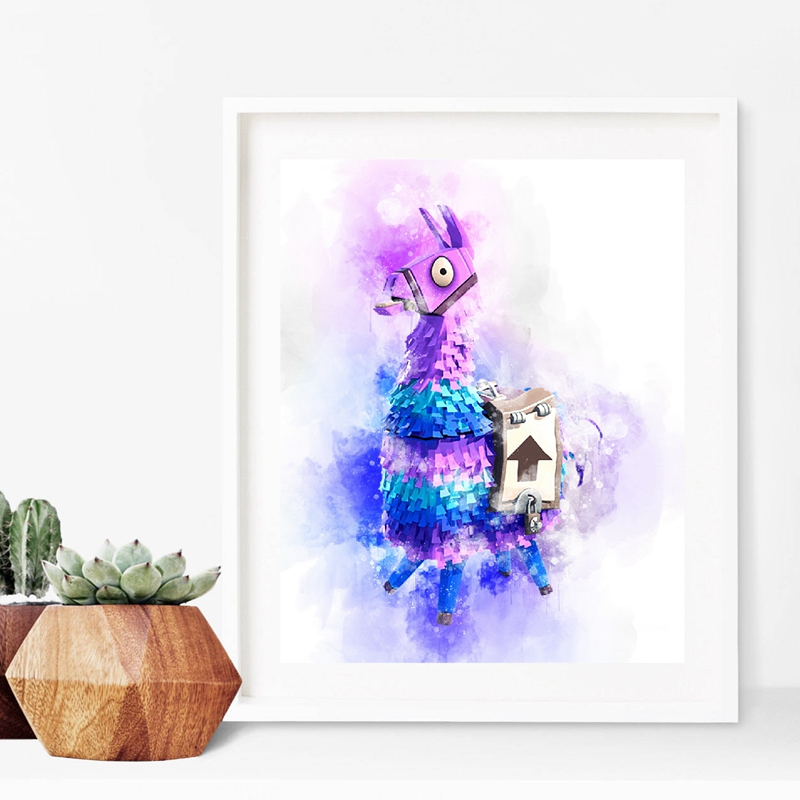 Hot Competitive Shooting Game Poster Llama Canvas Art Prints Canvas Painting For Xbox PS4 Game Room Wall Decor in Painting Calligraphy from Home Garden