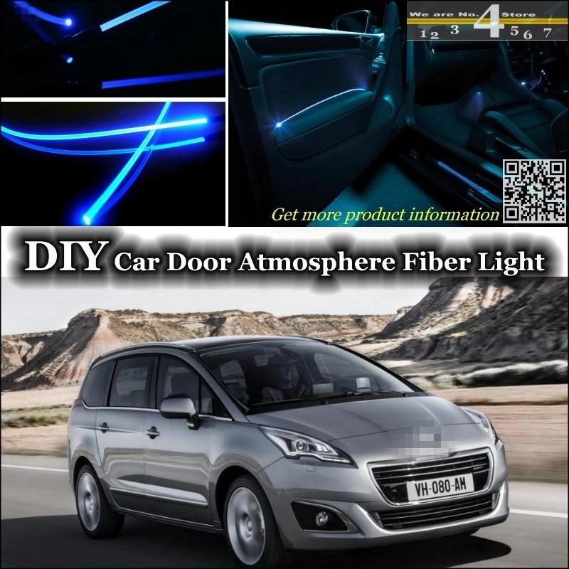 for peugeot 5008 interior ambient light tuning atmosphere fiber optic band lights inside door panel illumination not el light