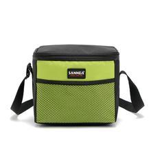 5L сумка для пикника на одно плечо, Студенческая сумка для пикника, сохраняющая тепло/холода, карманная сумка для пикника, красная, синяя, зеленая, серая