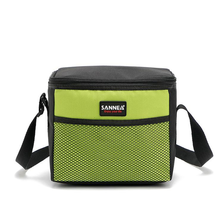 5L Picnic Bag Single-shoulder Student Picnic Bags Heat / Cold Preservation Pocket Picnic Bag Red Blue Green Gray
