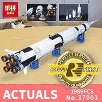 1969Pcs 37003 Lepin Creative Series The Apollo Saturn V Launch Vehicle Set Children Educational Building Blocks