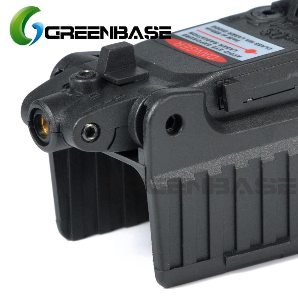 Greenbase Tactical Red Dot laser Sight Scope for Airsoft KWA KSC Glock 17 22 23 25 27 28 43 Pistol Iron Rear Sight-5