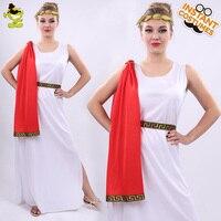 fd126020b0 Women White Greek Goddess Costumes Women Carnival Masquerade Party Noble  Greek Queen Cosplay Dress Adult Beautiful