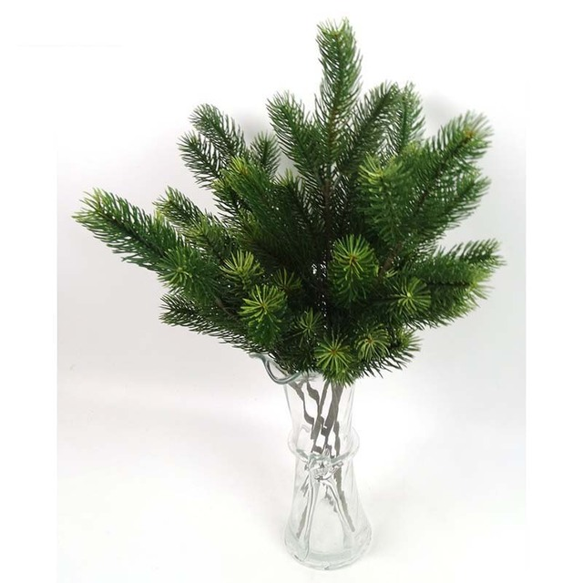 plastic pine branch artificial christmas tree branches decoration for home green artificial plants party garden shop - Christmas Tree Branches