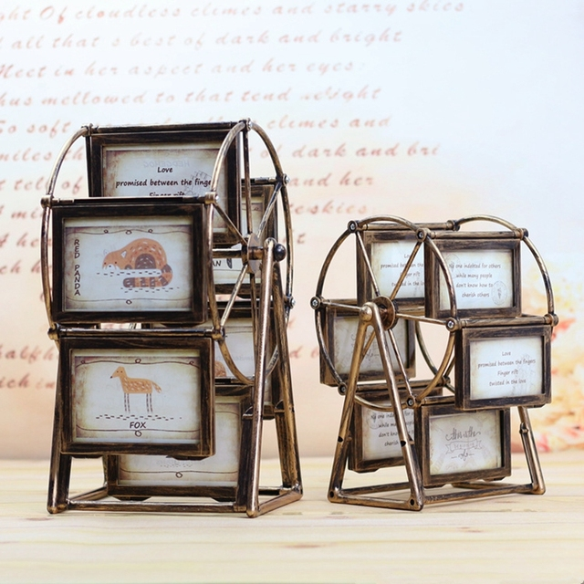 Rotate Combination Photo Frame Home Furnishings Decoration Picture Frame Multi-Frame European Retro Large Windmill Photo Frames