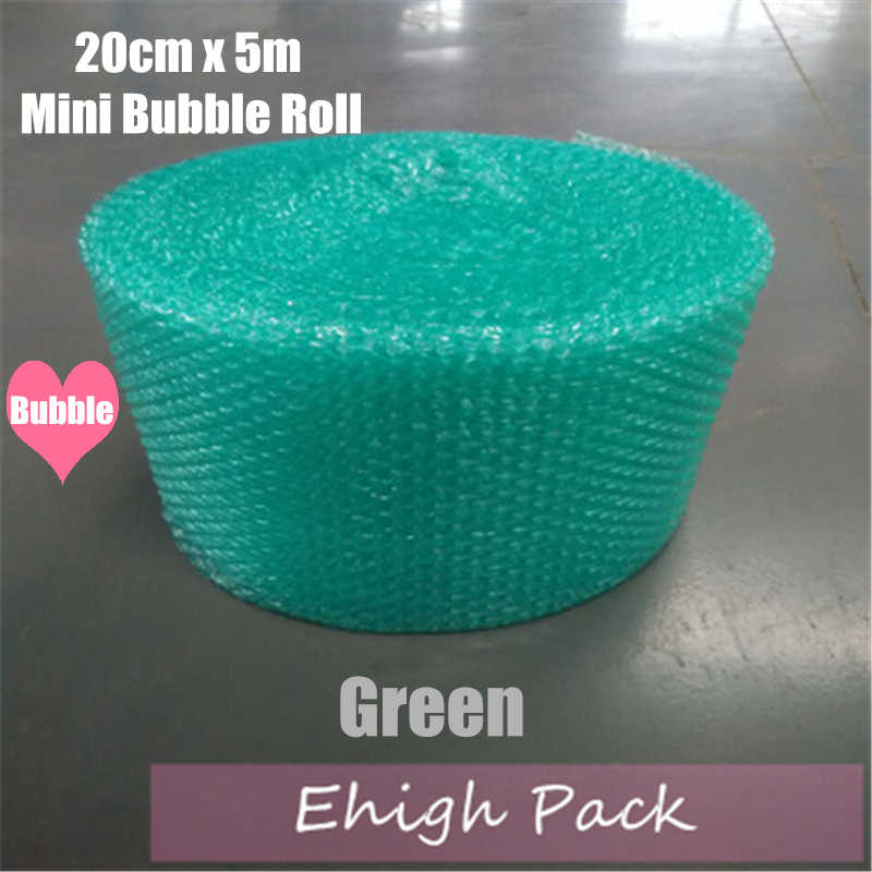 20cmx5m Green Heart-shape Mini Air Bubble Roll Party Favors And Gifts Packing Foam Roll Wedding Decoration Emballage Bulle Warp