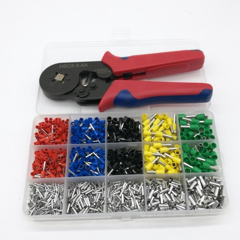 1640 шт. обжимные терминалы наборы для ухода за кожей AWG24-10 провода кабель трубки терминалы с обжимной щипцы наращивания волос