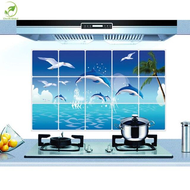 75*45 cm Küche Wandaufkleber Folie Öl Aufkleber Blau Ozean Sky ...