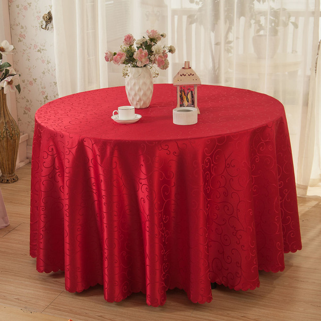 Multi Size Crocheted Vine Flower Hotel Round Table Cloth Restaurant Rectangular  Polyester Tablecloth Home Decoration Table