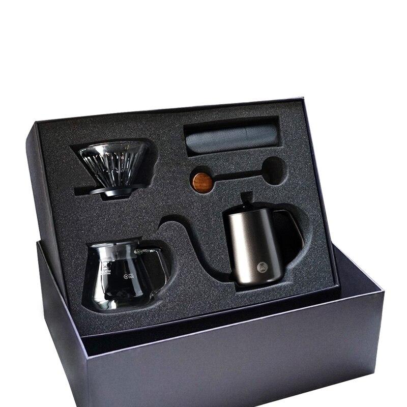 Timemore magro manual gotejamento café caixa de presente brew conjuntos de utensílios de café manual do agregado familiar moedor de café despeje sobre o presente de café conjunto