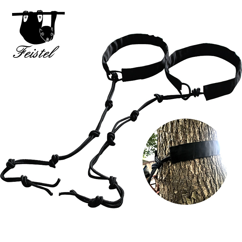 Feistel 2PCS of Hammock Straps and Belts Parachute Hamac Garden Rope Hanging Tree Straps Flyknit Hammac Tree Hugger Protection сумка для фотоаппарата hugger tree trunk dark grey