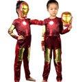 Новый Ironman Железный Человек Косплей Костюмы Для Детей Мальчик