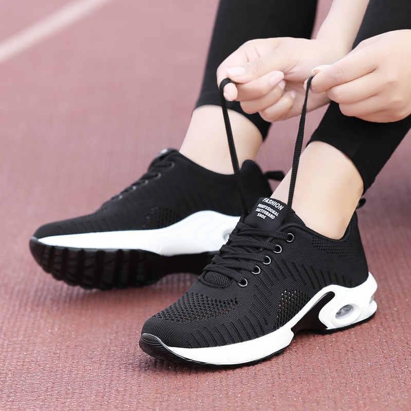 PUIMENTIUA 2019 chaussures femme Air Mesh coussin femmes mode baskets grande taille 42 dames amortissement Sport chaussures femmes chaussures plates