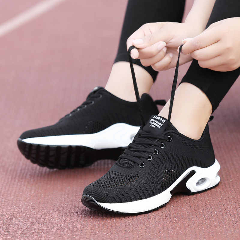 Puimentiui 2019 zapatos mujer cojín de malla de aire mujeres moda Zapatillas de talla grande 42 señoras amortiguación zapatos deportivos mujer pisos