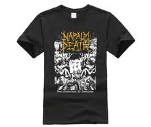 Napalm Death Mens From Enslavement To Obliteration Vintage T-shirt Black  Sleeve T Shirt Summer Men Tee Tops Clothing