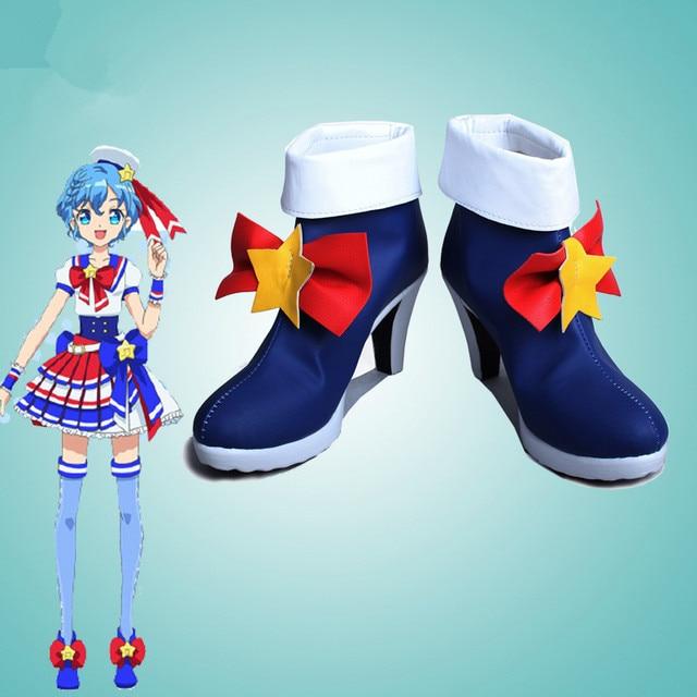 Puripara Pripara Dorothy Oeste Zapatos Cosplay Kawaii Botas de Cuero de LA PU Personalizado