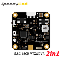 Speedybee 5.8G 48CH FPV Transmitter 600mW VTX Built in DVR VTX DVR 2 in 1with MMCX Antenna for FPV Racing Drone Quacopter