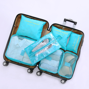 Image 4 - New Arrival Packing Cube Travel Bag 7 PCS/Set High Quality Oxford Cloth Travel Mesh Bag hand luggage Travel Bag Free shipping