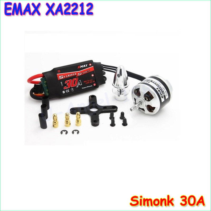 Original EMAX XA2212 820KV 980KV 1400KV Motor With EMAX Simonk 30A ESC Set For RC Model for F450 F550 RC Quadcopter emax mt2216 810kv kv810 plus thread brushless motor 1pair 1045 propellers for f450 500 f550 rc quadcopter part
