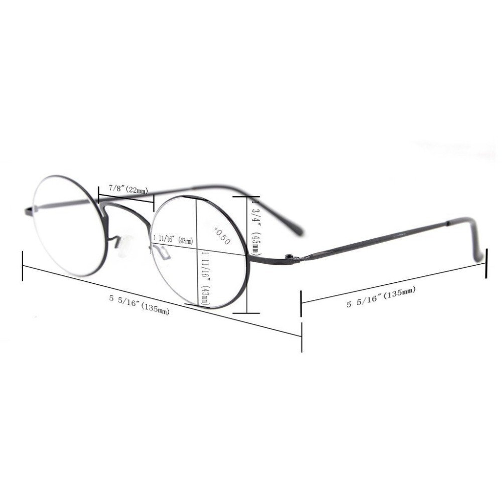 R15025 Eyekepper-lezers Lichtgewicht ronde metalen leesbril + 0.0 / - Kledingaccessoires - Foto 6