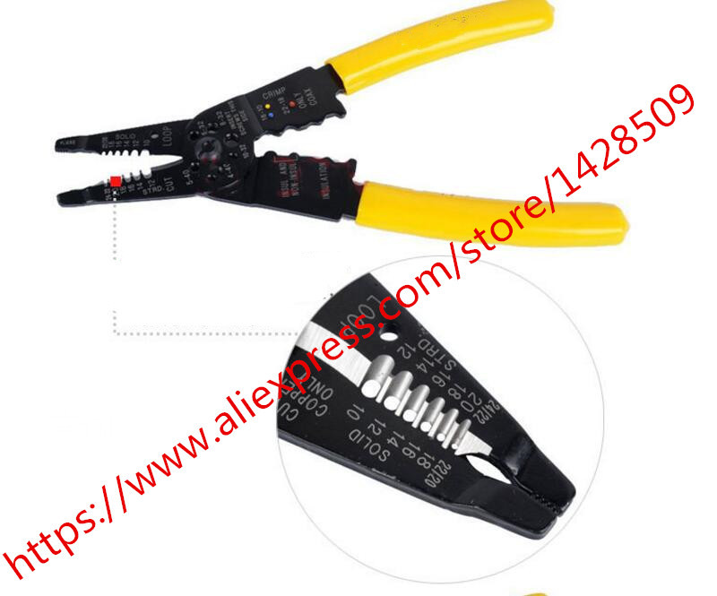 high quality Multi-Tool Wire Stripper/Crimper/Cutter  Crimping Plier  by hand free ship pz0 5 16 0 5 16mm2 crimping tool bootlace ferrule crimper and 1k 12 awg en4012 bare bootlace wire ferrules