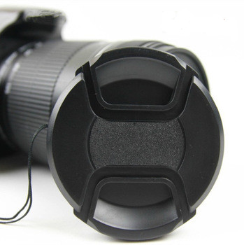 49mm 52mm 55mm 58mm 62mm 67mm 72mm 77mm 82mm 86mm Snap-On Front Lens Cap/Cover for Canon, Nikon, all DSLR lenses with rope