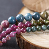 WEIYU Wholesale AAAA Level Natural Stone Tourmaline Round Loose Beads 4/5/6mm Pick Size For Jewelry Making DIY Accessories