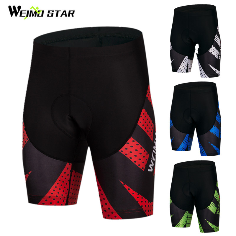 Weimostar Summer Sports Cycling Shorts mtb Men Shockproof Bicycle Shorts 4D Gel Padded Mountain Bike Shorts culotte ciclismo