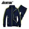 Jolintsai 2017 Spring Zipper Sweatshirt Tracksuit Men Moleton Masculino Hoodies Sportwear Men Plus Size 4XL Sweat Suits Mens