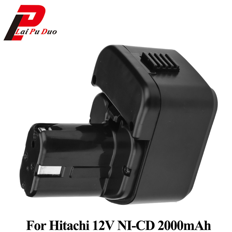 2.0Ah 12V NI-CD power tool replacement battery for Hitachi :EB1212S,DB12DM2,EB1214L,DS10DVA,EB1220BL,DH15D2,EB1233X waterproof 12v 4500mah ni mh replacement power tool battery for hitachi eb1212s eb1214l eb1214s free shipping