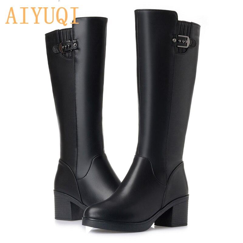 Black Aiyuqi 2019 Genuino Caliente Talla Nuevo Martin Zapatos Mujer Plush 42 Invierno Short Las Mujeres Plush black De Gruesa 35 Cuero Botas Grande XUqXr