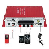 12V evrensel dayanıklı kırmızı MA-180 Mini USB araba tekne ses otomatik güç amplifikatörü 2CH Stereo HIFI Amp
