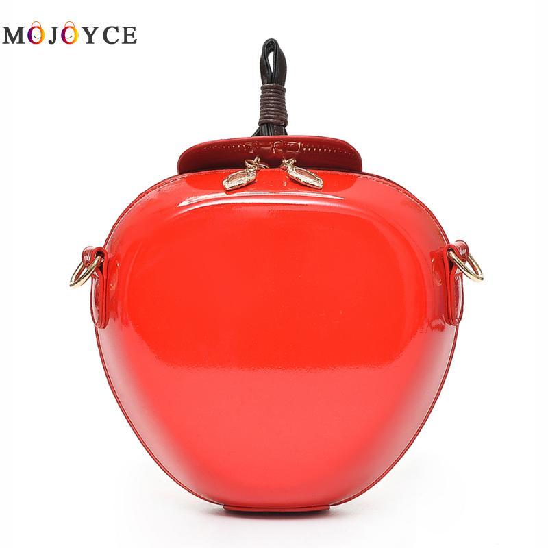 Famous Brand Red Apple Bag Women Crossbody Bags Fashion Female Messenger Bags Leaves Mini Bags for Teenager Girls
