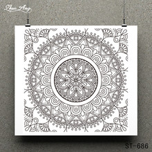 ZhuoAng Circular pattern Clear Stamps/Card Making Holiday decorations For  scrapbooking Transparent stamps 10*10cm