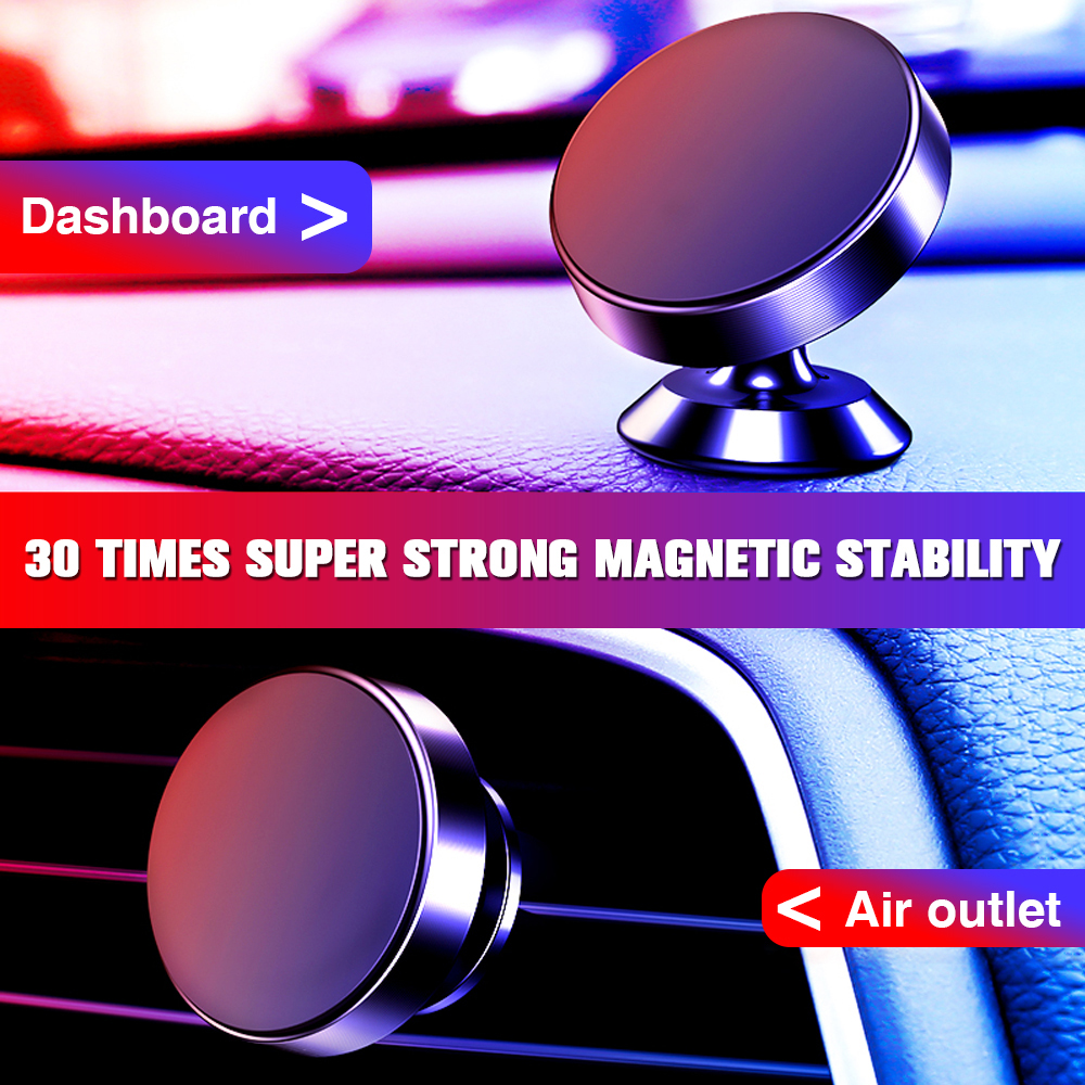 Magnetic Car Phone Holder Bracket Car Universal Phone Holder Magnet Mount Car GPS Holder Phone in Car Cell Mobile Phone Stand-in Phone Holders & Stands from Cellphones & Telecommunications