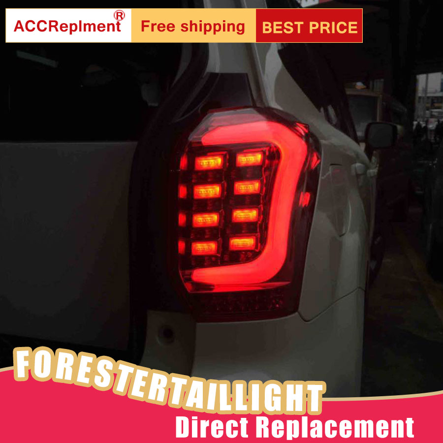 Car Styling LED Tail Lamp for Subaru Forester Tail Lights 14 18 for Forester Rear Light DRL+Turn Signal+Brake+Reverse LED light