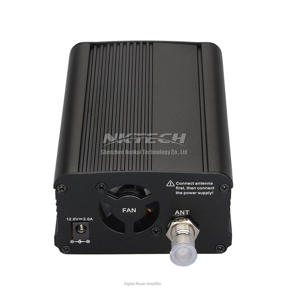 NKTECH CZE-7C PLL FM émetteur Radio Station de diffusion 1 W/7 W stéréo fréquence 76-108Mhz Pro Campus amplificateurs LCD rétro-éclairage - 5