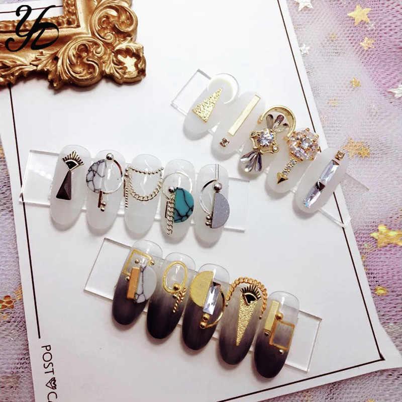 ... Yiday 1pcs Clear Sticky Rhinestones UV Gel Varnish Polish Paste  Different Crystal Metal Pearl Charm Beads 0cfcc9098b6a