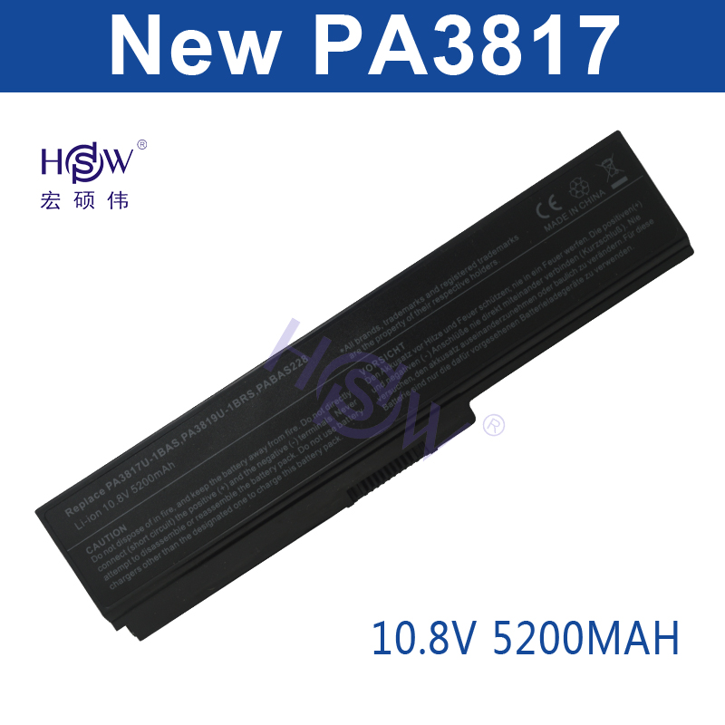 HSW New laptop battery forTOSHIBA PA3817U-1BAS PA3817U-1BRS Satellite L700 L730 L735 L770 L740 L745 L750 L755 L775  bateria akku hsw brand new 6cells laptop battery c4500bat 6 c4500bat6 6 87 c480s 4p4 for clevo c4500 series laptop battery bateria akku