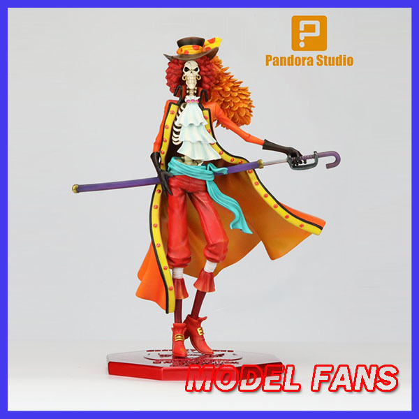 MODEL FANS IN STOCK one piece pop BROOK Burukku red cloth ver GK resin statue figure toy for collection