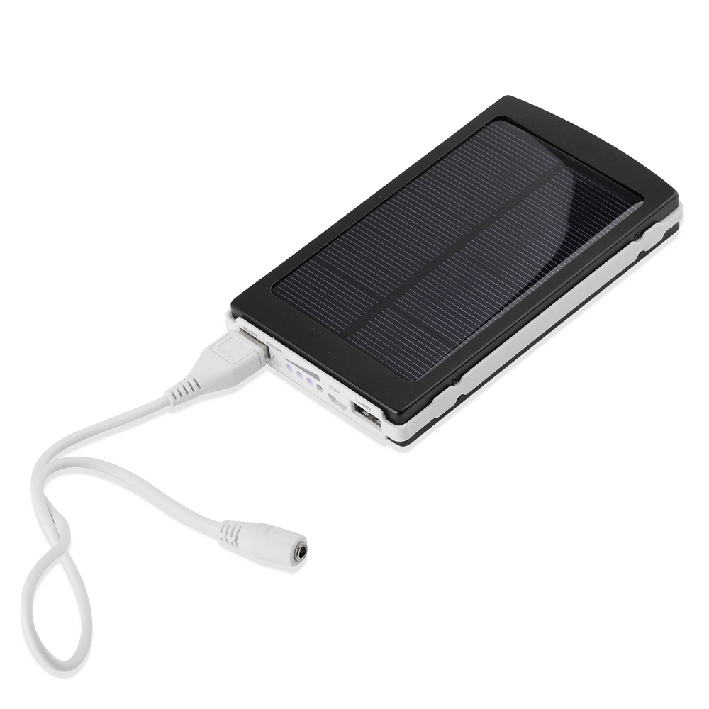 US $20 99 |Solar Panel Charger 10000mAh Dual Port Backup Battery Power Bank  for Smart phone Tablet PC Laptop Samsung Galaxy S1 S2 S3 S4 S5-in Power