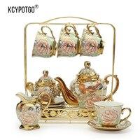 Европейский Керамика кофейная чашка и блюдце устанавливает или чайный сервиз (15 шт./компл.) Высококачественная упаковка подарочная коробка